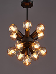 cheap -13 Bulbs 30 cm Mini Style Chandelier Metal Painted Finishes Retro Vintage / Globe 110-120V / 220-240V