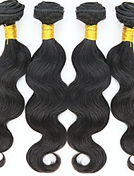 cheap -4 Bundles Hair Weaves Indian Hair Body Wave Human Hair Extensions Human Hair Natural Color Hair Weaves / Hair Bulk 8-30 inch Fashion / Short / 8A