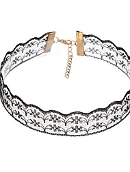 cheap -Women's Choker Necklace Flower Ladies Lace White Black Necklace Jewelry For Casual Club