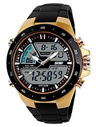 Недорогие -SKMEI Муж. Спортивные часы электронные часы Цифровой Черный Повседневные часы Cool Аналого-цифровые На каждый день - Золотой Черный