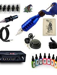 cheap -Tattoo Machine Starter Kit - 1 pcs Tattoo Machines with 7 x 15 ml tattoo inks, Professional Mini power supply 1 rotary machine liner &