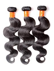 cheap -Malaysian Hair Body Wave Virgin Human Hair Natural Color Hair Weaves / Hair Bulk Human Hair Weaves Human Hair Extensions