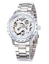 Недорогие -Муж. Модные часы Нарядные часы Часы со скелетом С автоподзаводом Аналоговый Классика - Белый Черный Серебро / черный