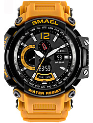 cheap -Men's Sport Watch Digital Watch Digital Quilted PU Leather Black / Blue / Red 50 m Water Resistant / Waterproof Alarm Calendar / date / day Analog - Digital Black / Gray Black / Silver Black / Rose