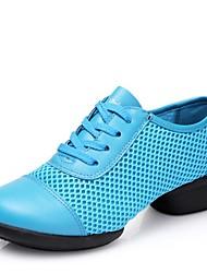 cheap -Women's Dance Shoes Mesh Dance Sneakers Low Heel Fuchsia / Red / Blue / EU37