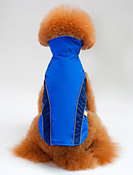 cheap -Dog Vest Dog Clothes Color Block Orange Red Blue Polyester Costume For Spring &  Fall Winter Men's Women's Casual / Daily
