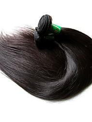 Недорогие -Индийские волосы Прямой Необработанные натуральные волосы 400 g Человека ткет Волосы Ткет человеческих волос Расширения человеческих волос / Короткие