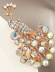 cheap -Synthetic Diamond Brooches Animal Classic Zircon Brooch Jewelry Gold For Gift Evening Party