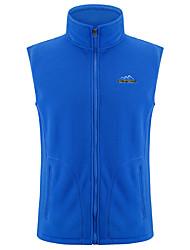 cheap -Men's Women's Hiking Vest / Gilet Fishing Vest Winter Outdoor Warm Vest / Gilet Fleece Full Length Visible Zipper Running Camping / Hiking Camping Black / Dark Grey / Violet / Navy / Fuchsia