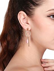 cheap -Women's Drop Earrings Hoop Earrings Flower Tassel Earrings Jewelry Pink / Wine / Light Brown For Party Date