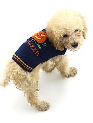 cheap -Dog Sweater Pumpkin Winter Dog Clothes Blue Costume Acrylic Fibers XS S M L XL