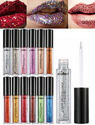 cheap -12 Colors Daily Makeup Makeup Tools Liquid Lip Gloss Sequins / Ammonia Free / Formaldehyde Free Dry / Wet / Shimmer Shimmer glitter gloss / Coloured gloss Makeup Cosmetic Daily Grooming Supplies