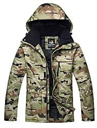 cheap -Men's Ski Jacket Ski / Snowboard Winter Sports Thermal / Warm Windproof Skiing Winter Jacket Ski Wear / Floral Botanical