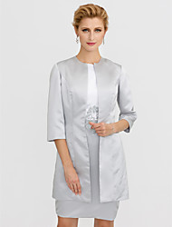 cheap -3/4 Length Sleeve Satin Wedding / Party / Evening Women's Wrap With Coats / Jackets