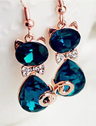 cheap -Women's Synthetic Sapphire Drop Earrings Classic Fashion Zircon Earrings Jewelry Blue For Daily Stage