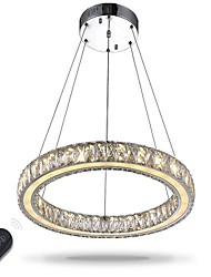 cheap -40 cm Crystal Dimmable Circle Ring Pendent Light Adjustable Chandelier Metal Electroplated Chic & Modern 110-120V 220-240V