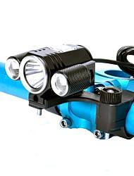 Недорогие -Светодиодная лампа Велосипедные фары Передняя фара для велосипеда LED Горные велосипеды Велоспорт Велоспорт Водонепроницаемый Супер яркий Для профессионалов Светодиодная лампа Литиевая батарея Белый