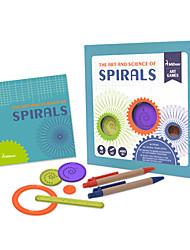 cheap -Spirograph Design Ruler Educational Toy Floral Theme Fun Kid's Boys' Girls' Toy Gift 1 pcs