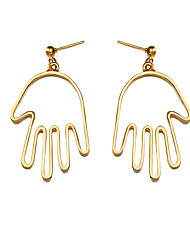 cheap -Women's Drop Earrings Classic Simple Style Fashion Earrings Jewelry Gold / Silver Hamsa Hand For Birthday Daily Casual Date Street