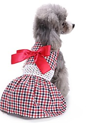 cheap -Cat Dog Coat Dress Tuxedo Dog Clothes Red Costume Cotton Bowknot Party Casual / Daily Wedding XS S M L
