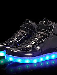 cheap -Boys USB Charging  LED / Comfort / LED Shoes Patent Leather / Customized Materials Sneakers Little Kids(4-7ys) / Big Kids(7years +) Lace-up / Hook & Loop / LED Black / Gold / Silver Fall / TR / EU36