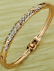 cheap -Women's Synthetic Diamond Cuff Bracelet Classic Rhinestone Bracelet Jewelry Rose Gold For Party Stage