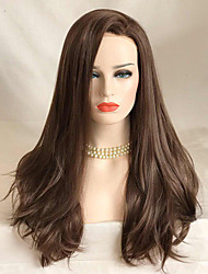 cheap -Synthetic Lace Front Wig Wavy Wavy Lace Front Wig Long Brown Synthetic Hair Women's Brown Uniwigs