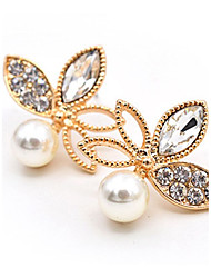 cheap -Women's Stud Earrings Cubic Zirconia Imitation Pearl Fashion Classic Imitation Pearl Alloy Flower Jewelry For Party Going out