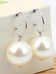 cheap -Women's Drop Earrings Fashion Elegant Imitation Pearl Earrings Jewelry White For Party Daily