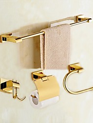 cheap -Bathroom Accessory Set Modern Style / Classical Brass 4pcs - Hotel bath Toilet Paper Holders / Robe Hook / tower bar Wall Mounted