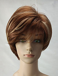 cheap -Synthetic Wig Curly Curly Layered Haircut Wig Blonde Short Blonde Synthetic Hair Women's Highlighted / Balayage Hair Blonde hairjoy