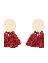 cheap -Women's Drop Earrings Tassel Personalized Bohemian Fashion Boho Earrings Jewelry Green / Blue / Light Brown For Gift Daily