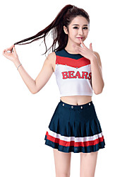 cheap -Cheerleader Costumes / Dance Costumes Outfits Women's Performance Polyester Sleeveless Dropped Skirts / Top