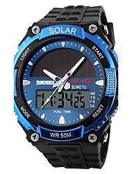 cheap -SKMEI Men's Sport Watch Wrist Watch Digital Watch Quartz Black 30 m Water Resistant / Waterproof Alarm Calendar / date / day Analog - Digital Classic Dress Watch - Silver Red Blue / Chronograph