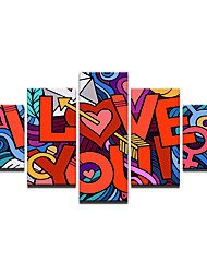 cheap -Canvas Print Ethnic Style Abstract,Five-piece Suit Canvas Vertical Panoramic Print Wall Decor For Home Decoration