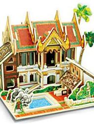 cheap -RUOTAI 3D Puzzle Wood Model Model Building Kit Houses Wood 1pcs Kid's Gift