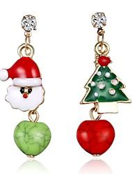 cheap -Women's Drop Earrings Tree of Life Ladies Rhinestone Earrings Jewelry Gold For Christmas