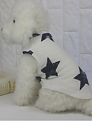 cheap -Dog Vest Dog Clothes White Costume Cotton Stars Casual / Daily XS S M L XL