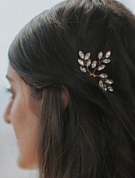 cheap -Pearl / Crystal Headwear / Hair Clip / Hair Pin with Floral 1pc Wedding / Special Occasion / Party / Evening Headpiece