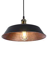 Недорогие -северная Европа винтажная промышленность металлическая тень подвесные светильники 1-фары столовая гостиная кухня диаметр 36см