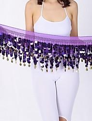 cheap -Belly Dance Hip Scarves Women's Performance Chiffon Paillette Hip Scarf