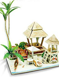 cheap -RUOTAI 3D Puzzle Model Building Kit Wooden Model Houses Wooden 1 pcs Kid's Boys' Girls' Toy Gift