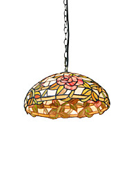 cheap -1-Light Diameter 30cm Tiffany Pendant Lights Glass Lamp Shade Living Room Bedroom Dining Room Kids Room Light Fixture