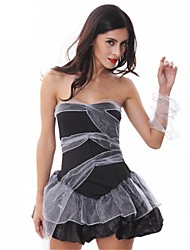 cheap -Bride Dress Women's Halloween Carnival Festival / Holiday Poly / Cotton Black Women's Carnival Costumes Solid Color