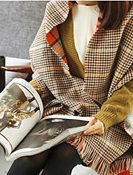 cheap -Women's Imitation Cashmere Rectangle Scarf - Check / Winter