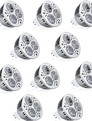 cheap -10pcs 9 W LED Spotlight 600 lm MR16 3 LED Beads High Power LED Decorative Warm White Cold White 12 V / RoHS