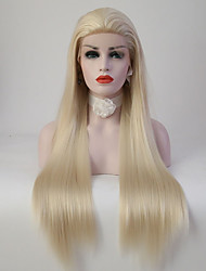cheap -Synthetic Lace Front Wig Straight Straight Lace Front Wig Blonde Long Light Blonde Synthetic Hair Women's Blonde