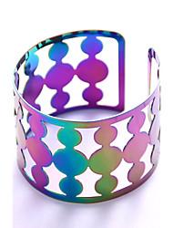 cheap -Women's Bracelet Bangles Cuff Bracelet Geometrical Statement Ladies Fashion Copper Bracelet Jewelry Rainbow For Stage Club