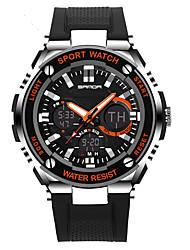 cheap -Men's Women's Sport Watch Military Watch Smartwatch Digital Black 30 m Water Resistant / Water Proof Alarm Calendar / date / day Analog-Digital Charm Luxury Casual Bangle Fashion - Orange Red Blue
