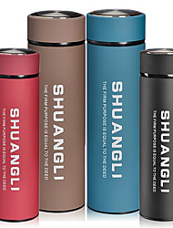 cheap -Travel Mug / Cup / Water Bottle Water Bottle Camping Cup for Stainless Steel PP Outdoor Outdoor Exercise Cycling / Bike Traveling Coffee Red Blue